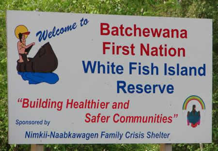 white fish sign